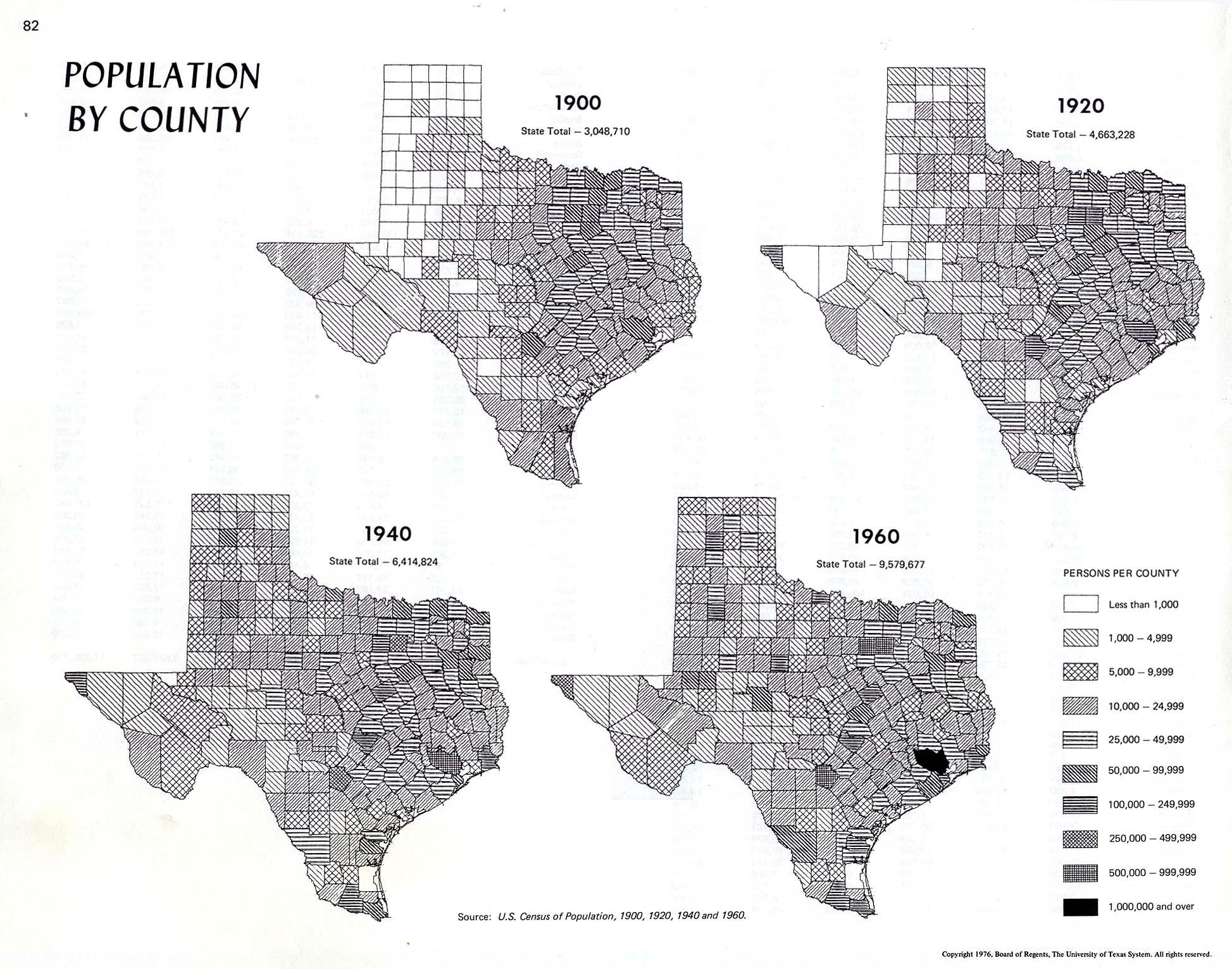 Atlas Of Texas Perry Casta 241 Eda Map Collection Ut