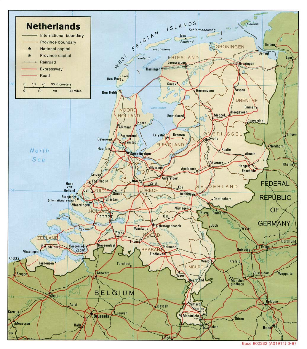 Political Maps Of The Netherlands