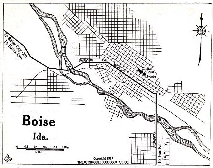 Map City Moscow Idaho