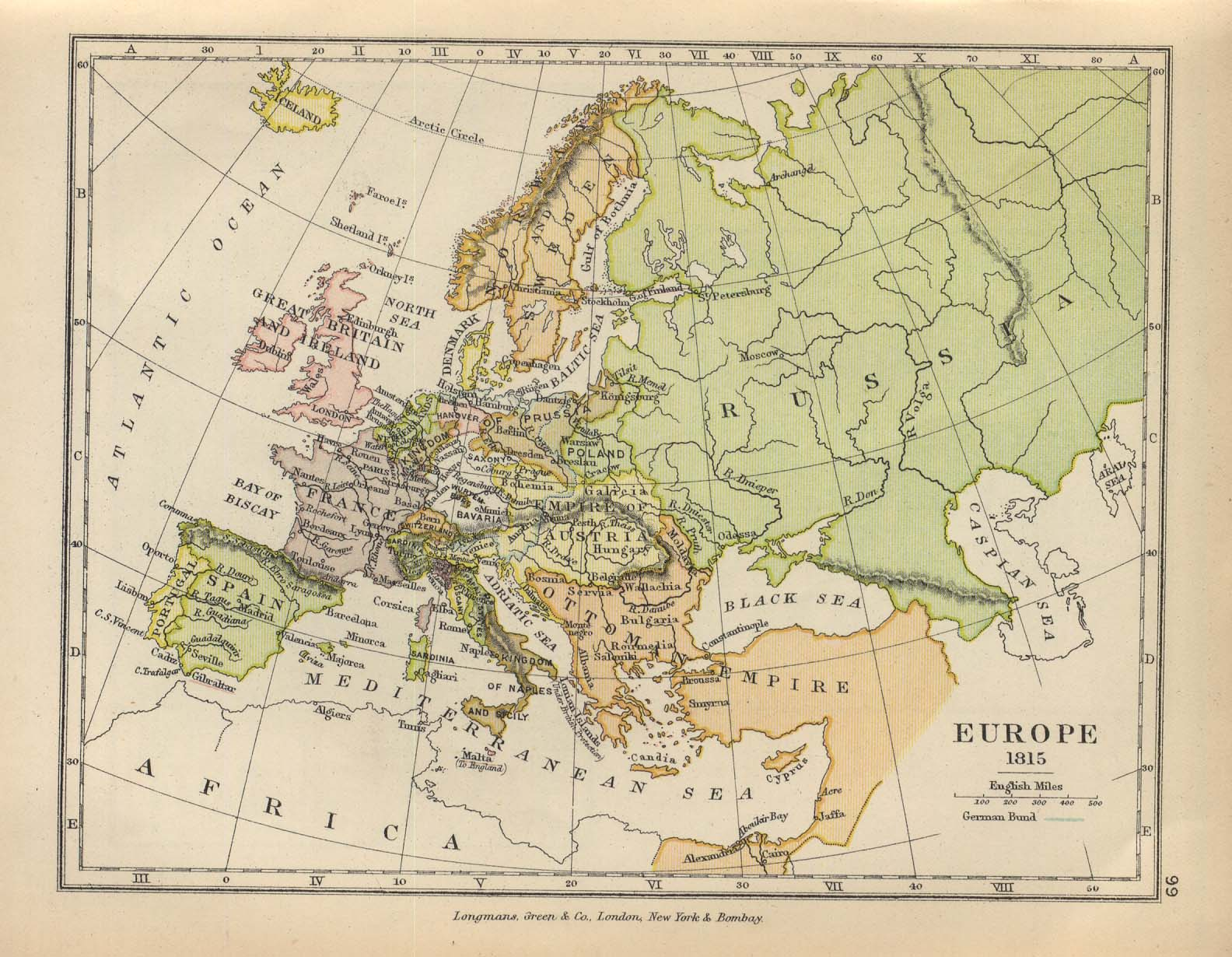 WHKMLA   Historical Atlas  Europe 1815 2002 External Online Map   Europe 1815 1905