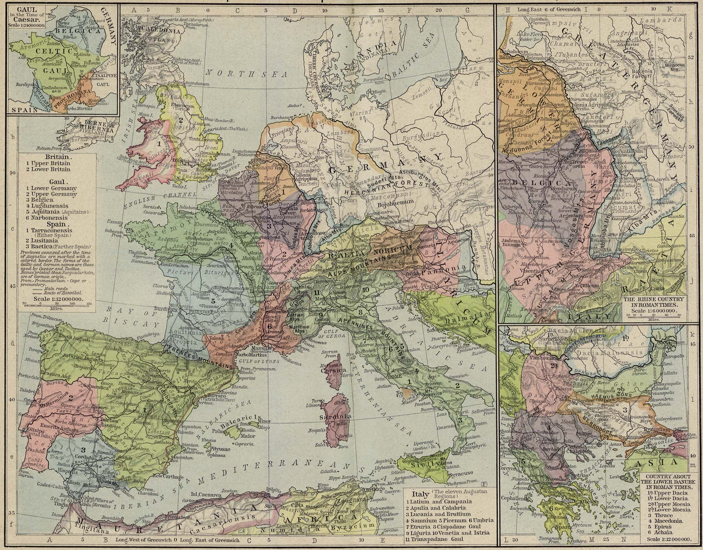 Bible Maps     Reference Map of the European Provinces of the Roman Empire