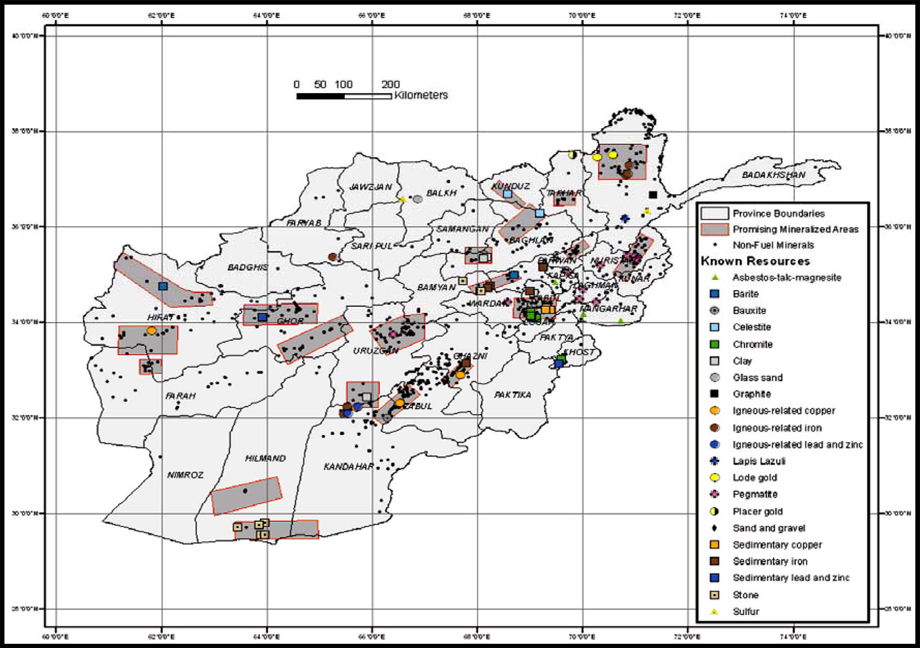 Afghanistan May Have 1 Trillion Dollar Minerals Potential
