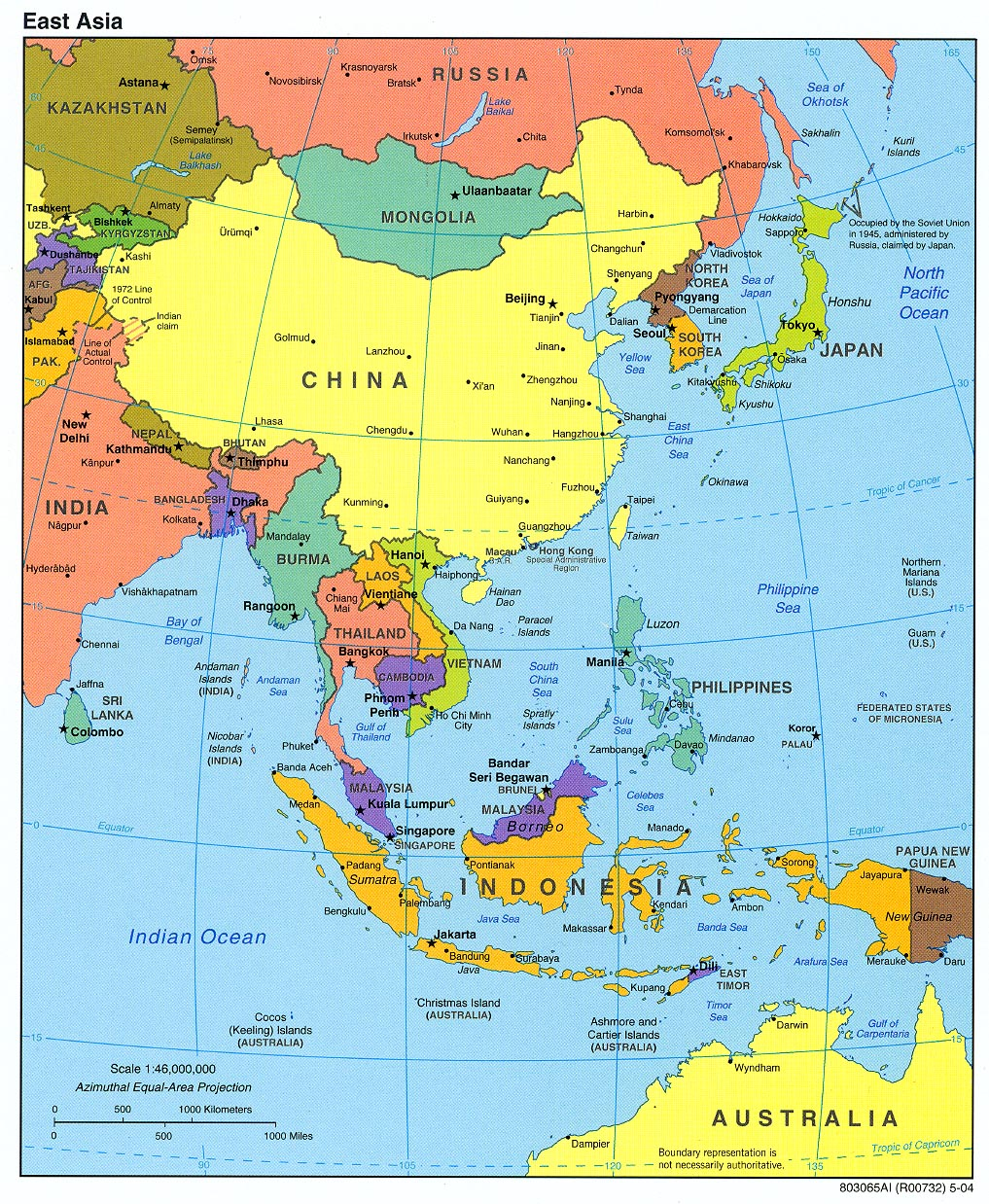 Taiw Including Map Mongolia China Korea North Countries Korea Only China South