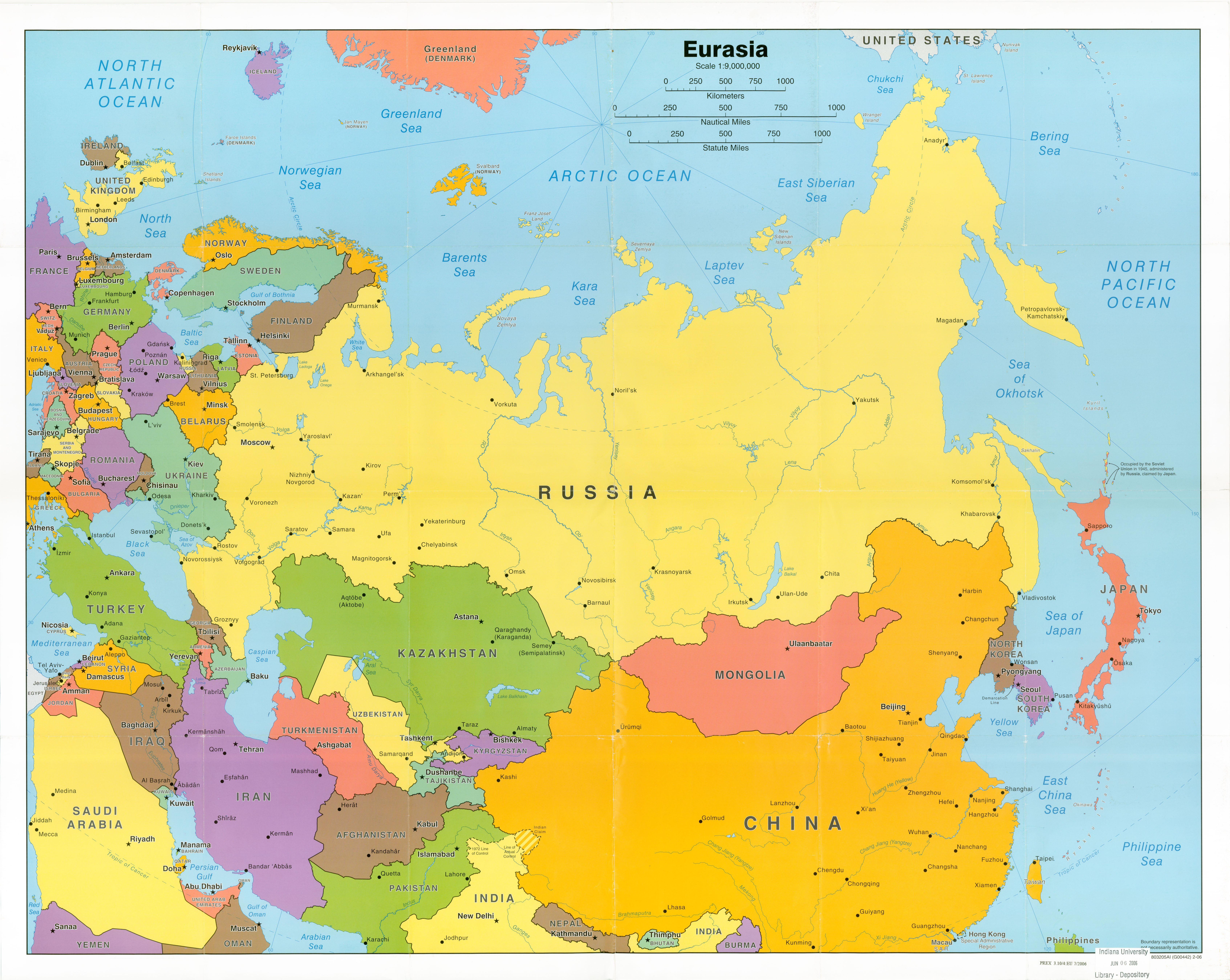 Russia and Post Soviet States Map – World Regional Geography