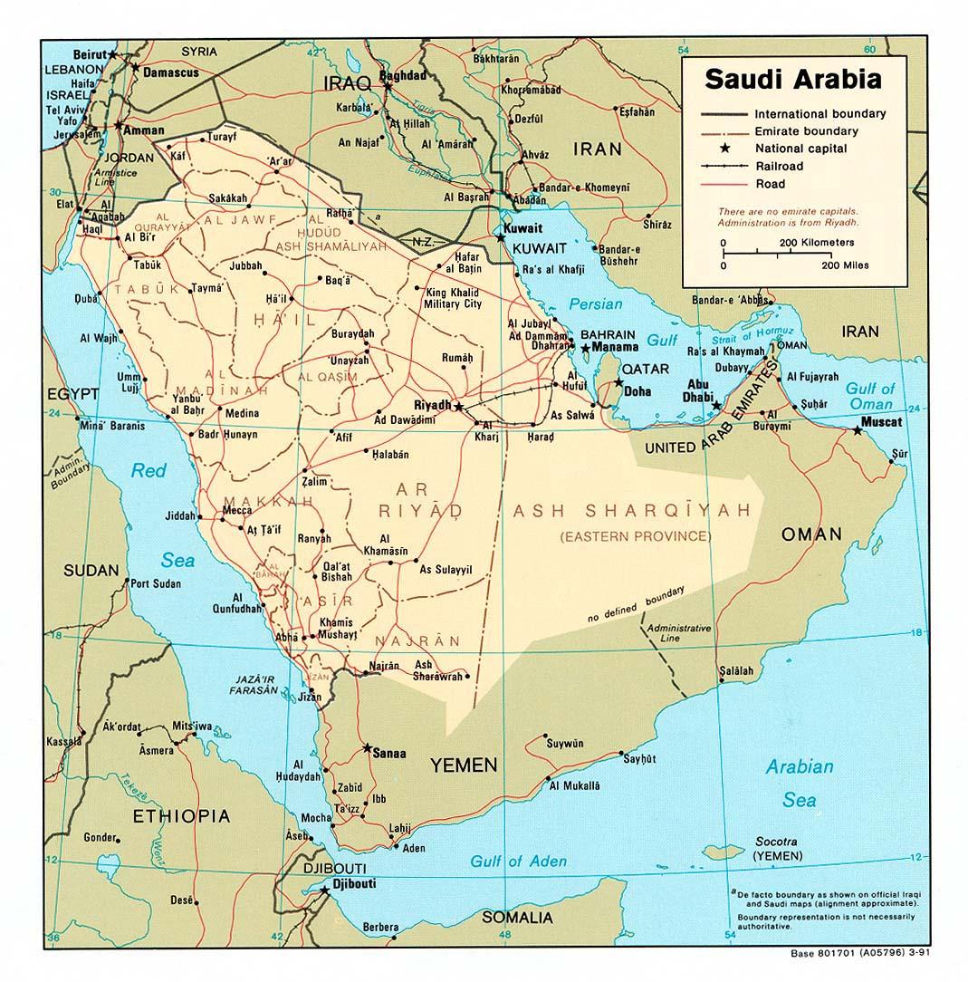 Maps Map Saudi Arabia