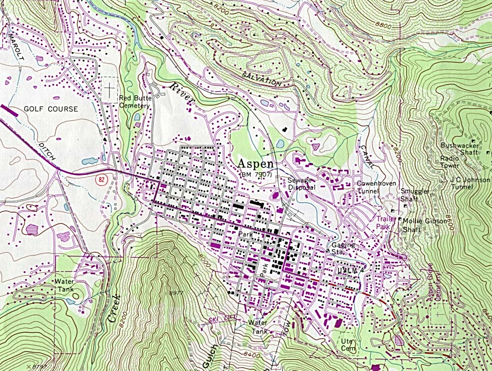 Map of Colorado  A Source for All Kinds of Maps of Colorado Map of Colorado links to other maps  Aspen  topo