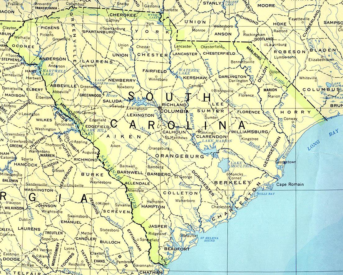South Carolina Maps