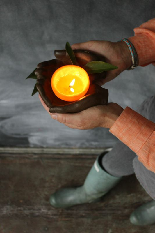 How to make an orange candle from LibbieSummers.com
