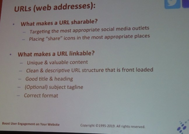 URLs shareable and linkable
