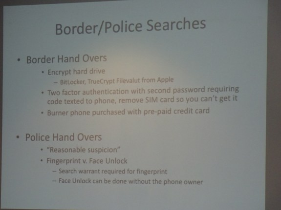 Border and police searches