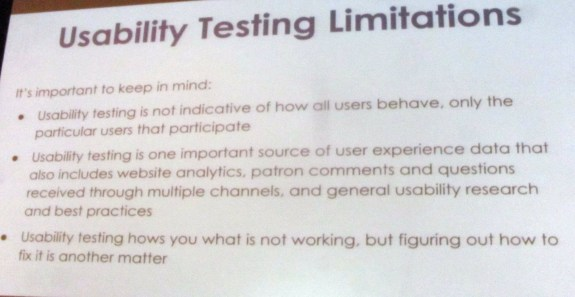 Usability Testing Limitations