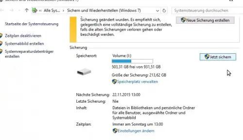 Datensicherung Backup Strategie Windows 10 Usb Und Nas