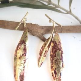 Pendientes olivo dorado 1