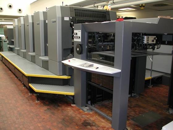 こちらは平台と呼ばれる印刷機