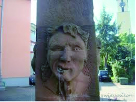 苦虫をかみつぶした顔...っていうか石像