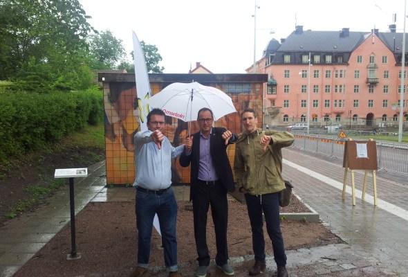 Krönika över vår demonstration i Uppsala