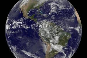 Jorden sett fra rommet. Foto: NASA/NOAA/GOES Project.