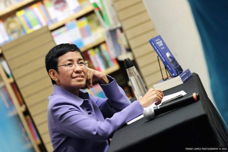 Maria Ressa fra lanseringen av boken From Bin Laden to Facebook i 2012. Foto: Franz Lopez CC,BY.NC.