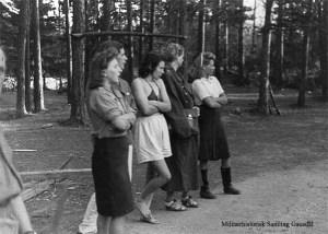 """På Ringerike ble minst 420 kvinner utpekt som """"tyskertøser"""" de første dagene etter frigjøringen. Foto: Leif Berg/Militærhistorisk Arkiv Gausdal."""