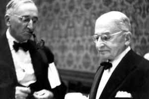 F.A. Hayek og Ludvig von Mises