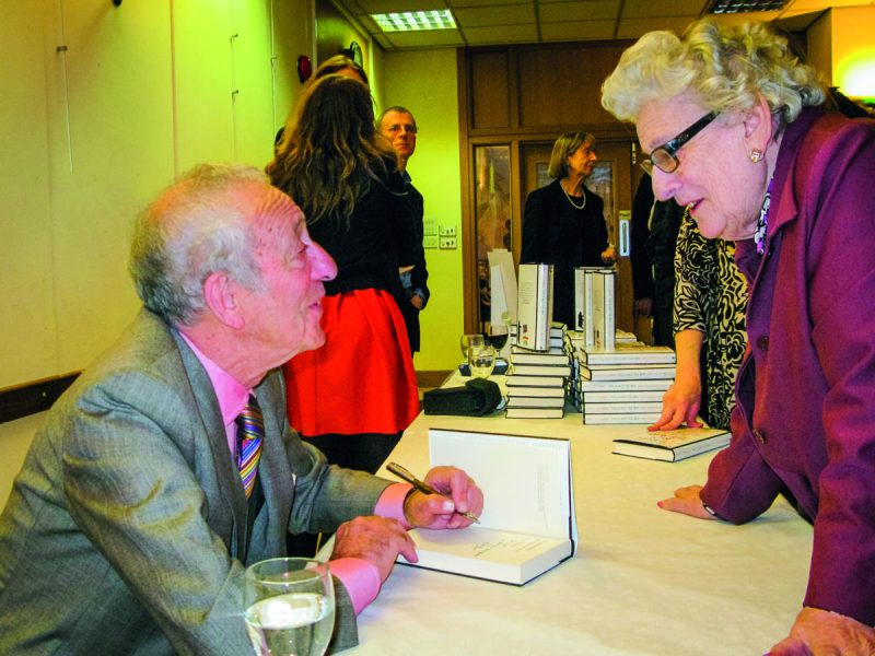A signing for This is Not the Way - one of the five books David authored