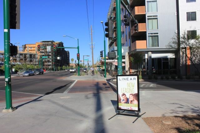 Apartment buildings on Roosevelt Street, Phoenix