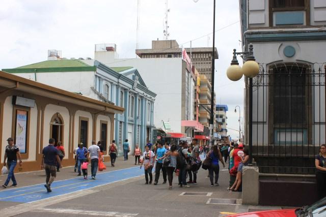 San José, Costa Rica. Bulevar on Avenida 4.