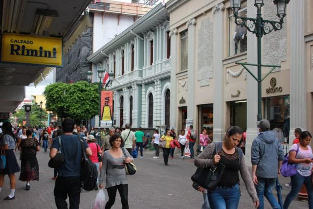 San José, Costa Rica. Bulevar on Avenida Central.