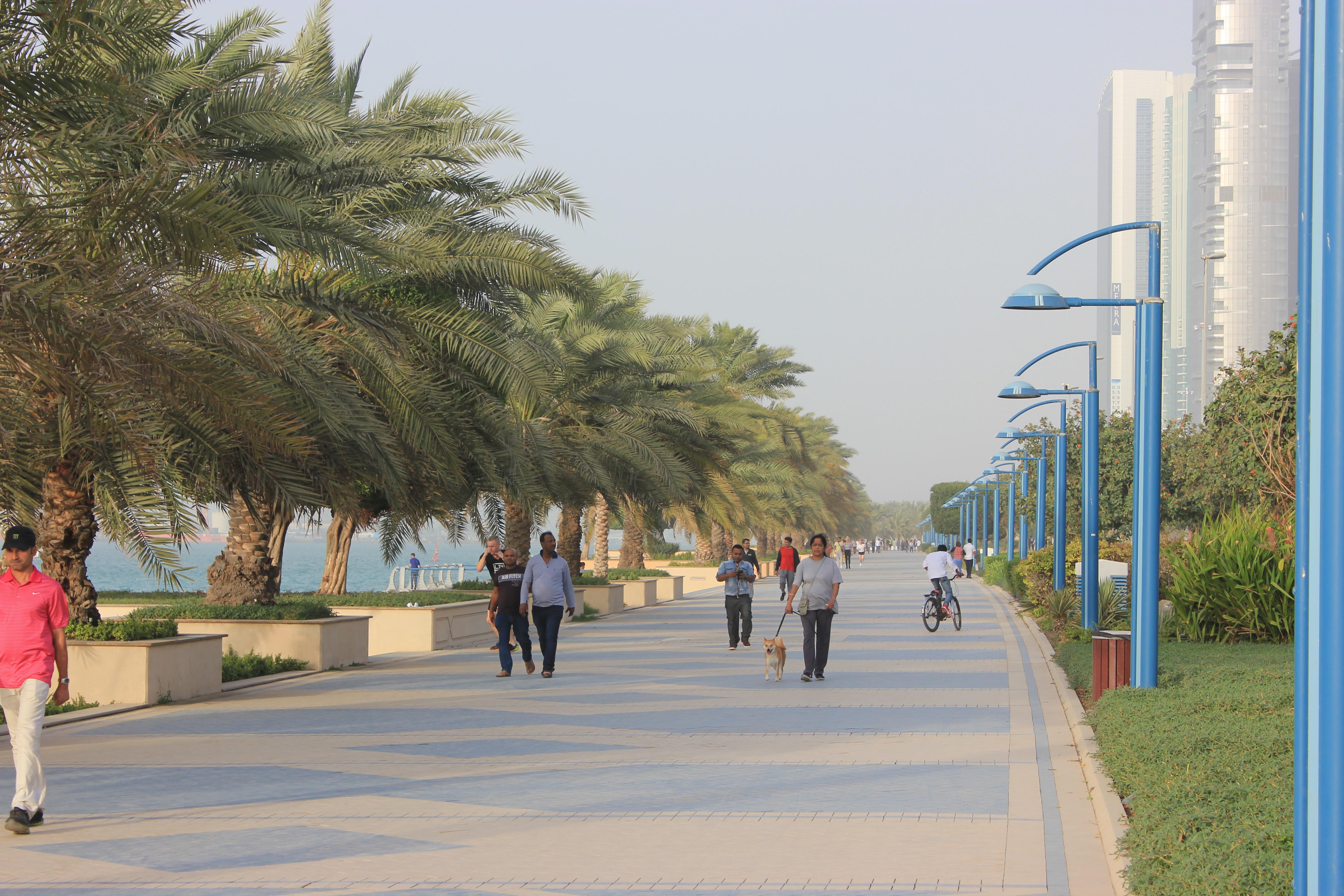 Pedestrian life in Abu Dhabi   Liberal Landscape