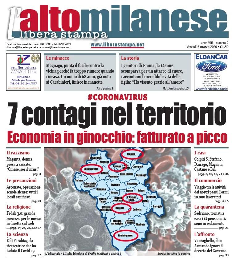 prima-pagina-libera-stampa-altomilanese-6-marzo-2020