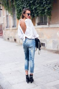 button down up shirt backwards spring fashion street style 2016