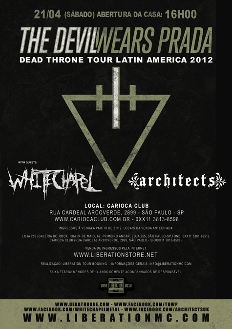 THE DEVIL WEARS PRADA/WHITECHAPEL/ARCHITECTS EM SP