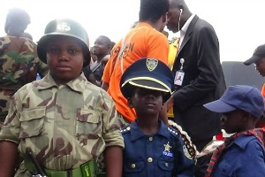 Even the kids joined in celebrating with the army on Armed Forces Day