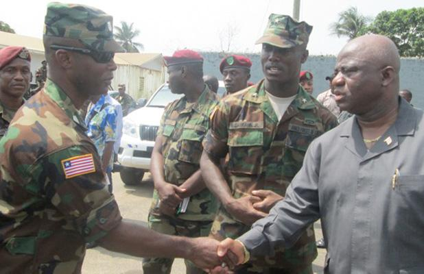 Seen here with Defense Mi. Samakai, the Gen. recent order to journalists is a serious misunderstanding