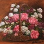Silvia Comizzoli cesto di fiori
