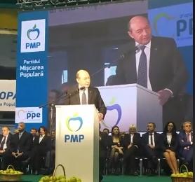"""Băsescu, la lansarea candidaților PMP: """"După cum știți, nu am pierdut nicio bătălie politică și vă rog să mă ajutați să n-o pierd pe ultima"""""""