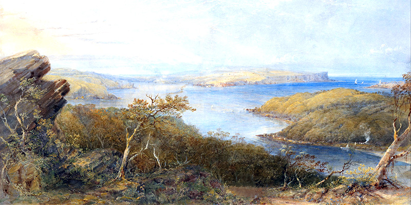 Conrad Martens - North Head from above Balmoral, Sydney Harbour