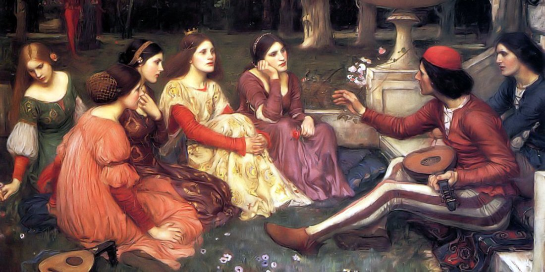 A Tale from the Decameron di John William Waterhouse