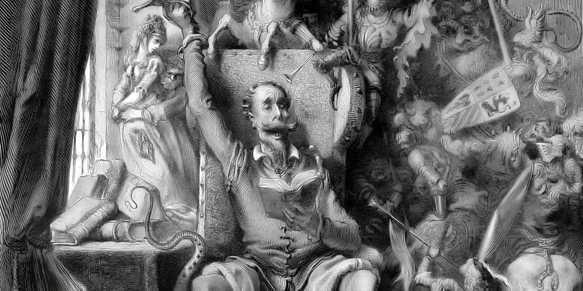 Don Quixote di Gustave Doré