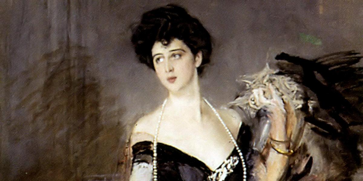 Ritratto di donna Franca Florio di Giovanni Boldini