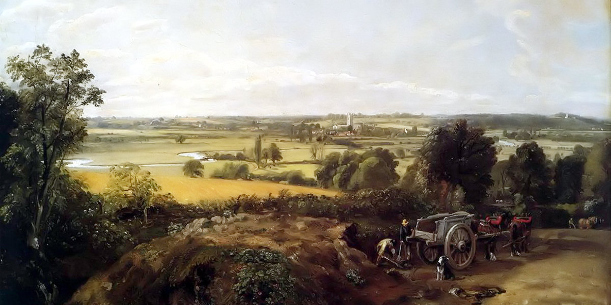 The Stour Valley with the Church of Dedham di John Constable