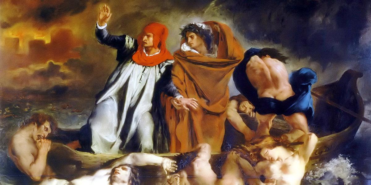 The Barque of Dante di Eugène Delacroix