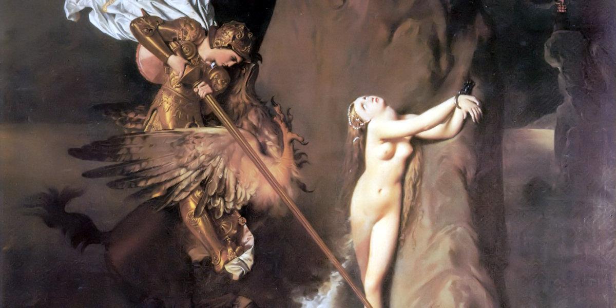 Roger Delivering Angelica di Jean-Auguste-Dominique Ingres