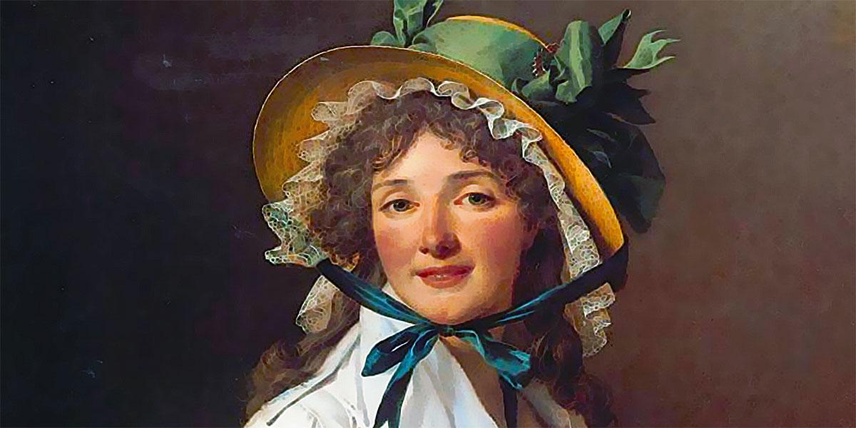 Portrait de Madame Emilie Seriziat et son Fils di Jacques-Louis David