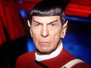 Leonard Nimoy, in Spock