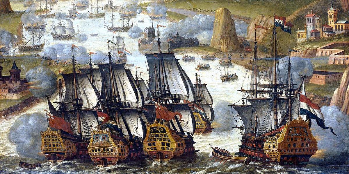 The battle of Vigo Bay. Anonimo circa 1705 (1702-1710)