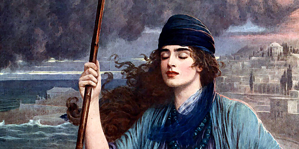 Blind Girl of Pompei. Herbert Gustave Schmalz (1856-1935)