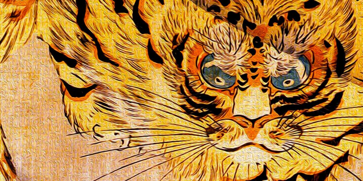 Utagawa Kuniyoshi. Tiger (1842)