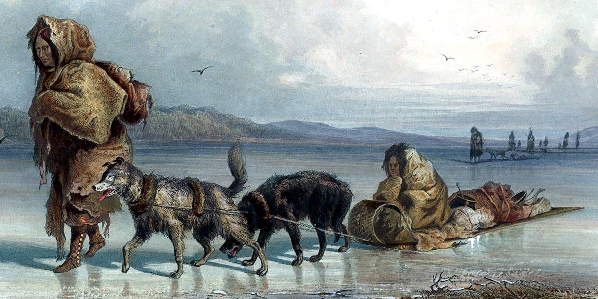 Dog Sledges Of The Mandan Indians. Karl Bodmer