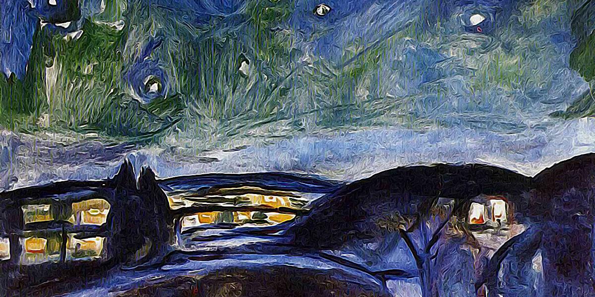 Starry night (1924). Edvard Munch
